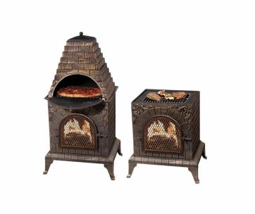 Deeco-DM-0039-IA-C-Aztec-Allure-Cast-Iron-Pizza-Oven-Chiminea