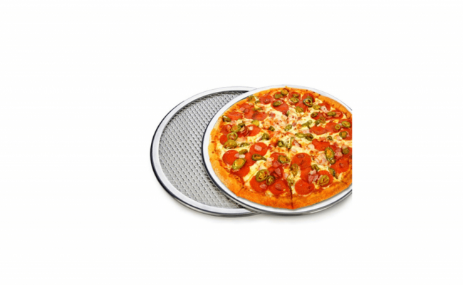 Pizza-Stone-of-1-piece-12'-Seamless-Rim-Aluminium-Pizza-Mesh-1
